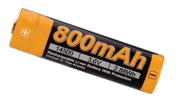 2x Baterias Fenix 14500 800mah 3,6 V Li-ion Aa