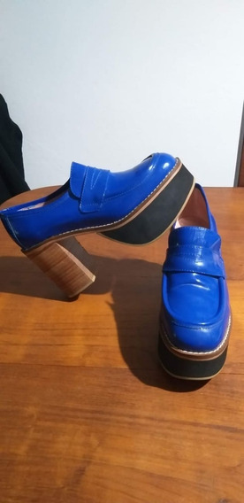 Zapatos Mocasin Altos Azul!