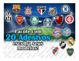 Adesivos Futebol Baseball Basquete Nba Nfl Nhl 20uni.