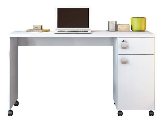 Escrivaninha Branca Mesa Para Computador Estudo Malta Branca
