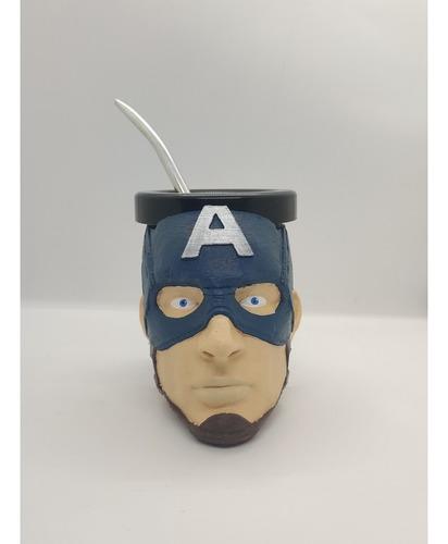 Mate Capitán América Impreso En 3d