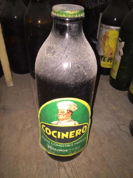 Antigua Botella De Aceite Cocinero (llena Sin Abrir)