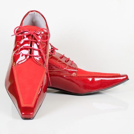 Sapato Social Masculino Bico Fino Topo De Linha