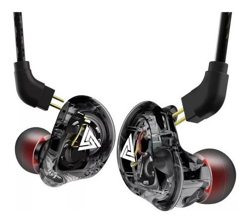 Fone Qkz Vk1 In Ear Dual Driver Retorno De Palco Com Mic