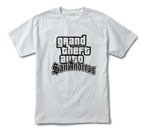 Camiseta Gta San Andreas - Branca