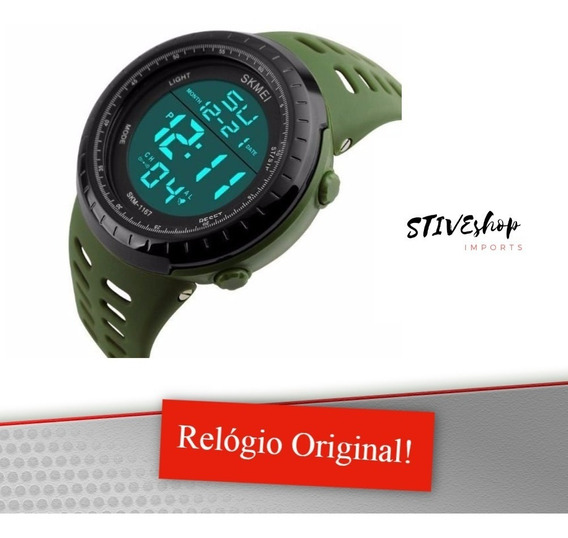 Relógio De Pulso Militar Skmei 1068 Army Green