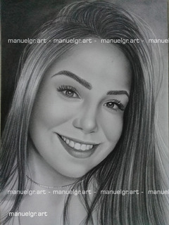 Retratos A Lápiz Personalizado Arte Dibujo 1 Rostro Realista