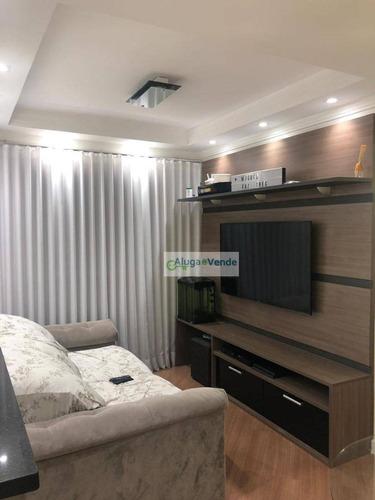 Apartamento Com 2 Dormitórios, 1 Suíte À Venda No Condomínio Vivere Con Amore, 56 M² Por R$ 260.000 - Vila Galvão - Guarulhos/sp - Ap0193