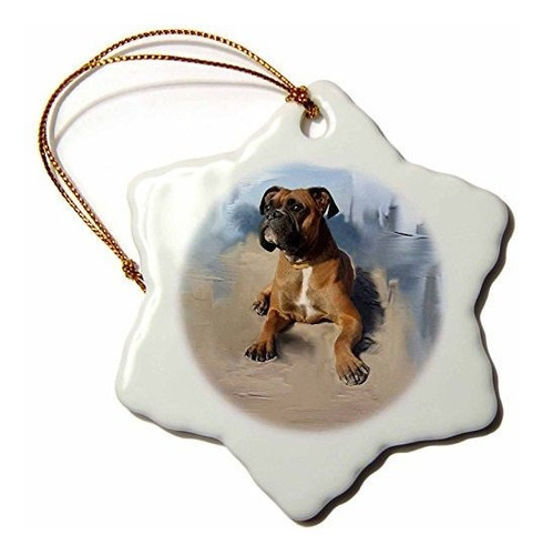 3drose Perros Boxer  Boxeador Atigrado  Los Ornamentos