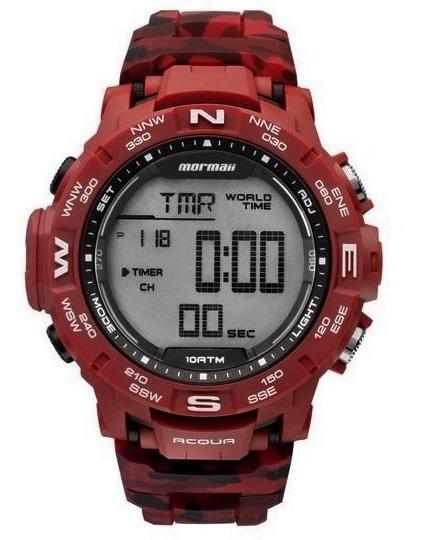 Relógio Mormaii Mo1173a/8r Mo1173a 8r Hora Mundial Pulso