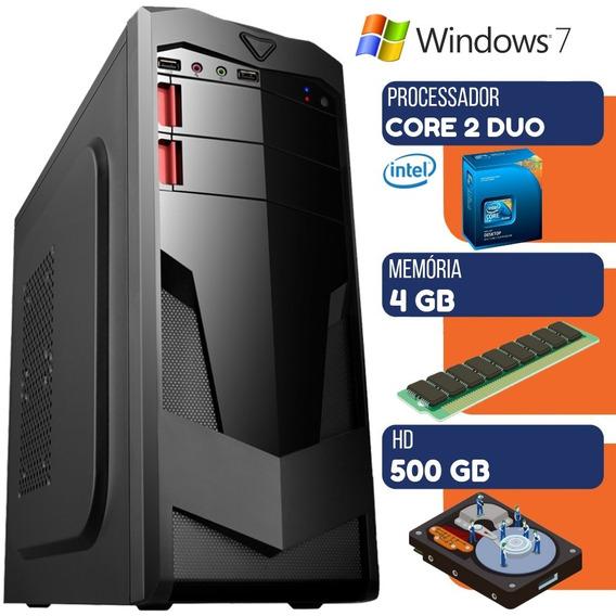 Computador Intel Core 2 Duo 4gb Hd 500gb Windows 7