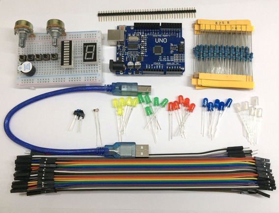 Kit Arduino Básico Com 192 Componentes