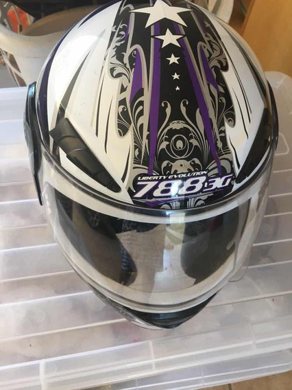 Capacete Moto Semi-novo Tamanho 58