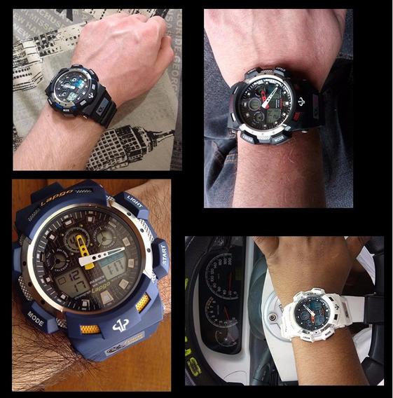 Reloj Acuatico Sumergible 100mt 3 Alarmas Led Tipo G Shock