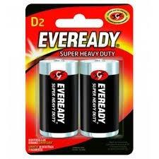 Pilha Bateria D Eveready 1,5v Com 2 Unidades