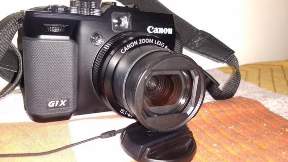 Canon G1x Excelente Camera Compacta Sensor Aps-c