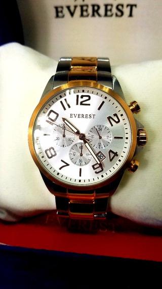 Everest Relógio Masculino Aço 12 Á Prova D´agua C Garantia1