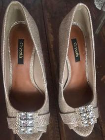 Sapato De Festa Com Pedraria! Ótimo Estado