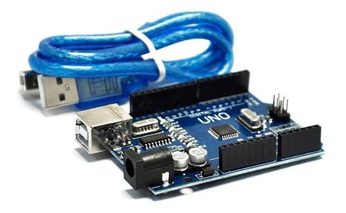 Imagen 1 de 2 de Tarjeta De Desarrollo Uno R3 Compatible Arduino + Cable Usb
