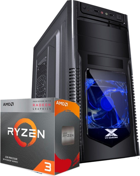 Pc Gamer Orion Ryzen 3200g A320m Fury 2x 4gb Ssd 240gb 500w