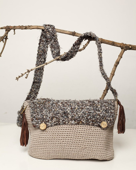 Cartera Tejida Al Crochet