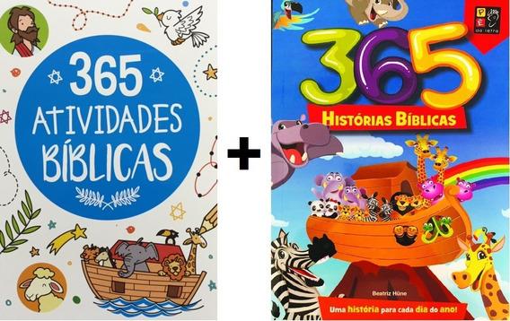 Kit Com 2 Livros Bíblicos - 365 Atividades / 365 Historias