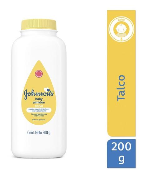 Polvo Almidón Higiene Bebé Antirosaduras 200g Johnson´s Baby