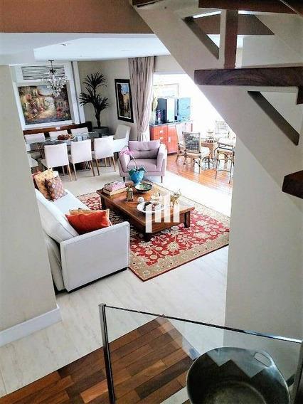 Cobertura Com 3 Dormitórios À Venda, 201 M² Por R$ 2.500.000,00 - Brooklin - São Paulo/sp - Co0558