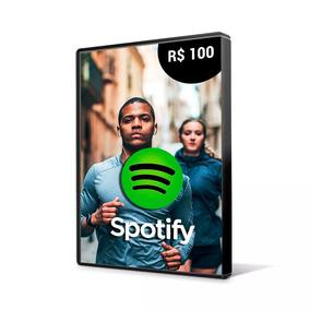 Cartão Assinatura Spotify R$ 100 Reais - Individual Imediato