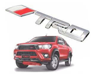 Trd Insignia Metalica Cromada 3m Toyota Hilux Tuningchrome