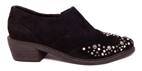 Botas Mujer Zapatos Cuero Gamuza Botinetas Magali Shoes