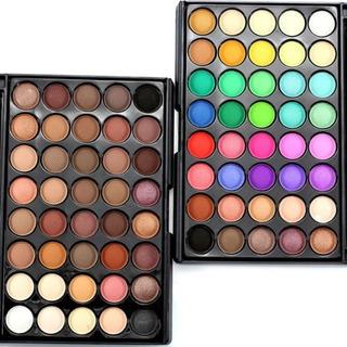 Sansebas. Set 40 Colores De Sombra De Ojos Mate Crema