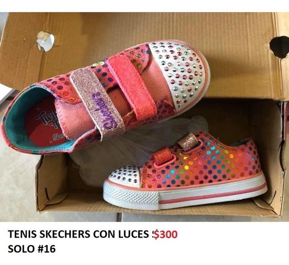 Tenis Skechers Con Luces Niña Outlet/saldos Mchn