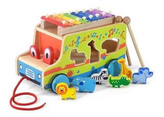 Acool Camion Madera Xilofon Animales Encastre Ac7643 Full