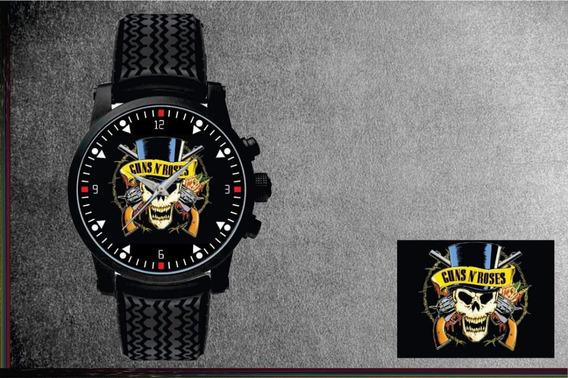 Relógio De Pulso Personalizado Banda De Rock - Cod.1065