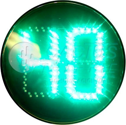 Imagen 1 de 3 de Semáforo Tipo Cronometro Verde Rojo En Misma Lámpara (led)