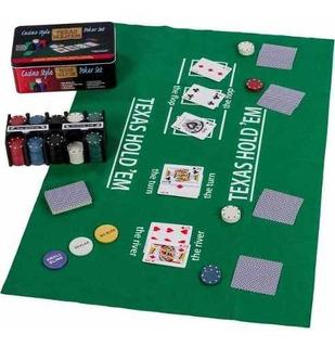 Set Poker 200 Fichas+paño Black Jack Texas Holdem 80131 Gocy