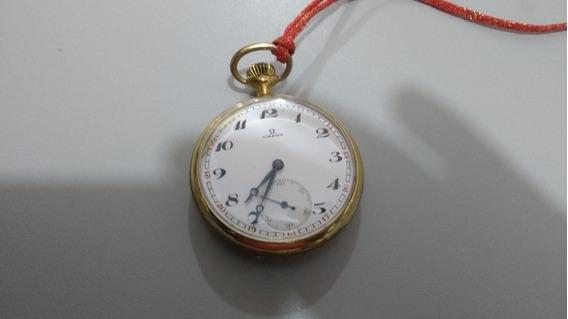 Raridade Relógio Omega De Bolso Dourado Antigo Coleção
