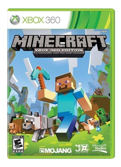 Jogo Novo Midia Fisica Minecraft Edition Mojang Pra Xbox 360