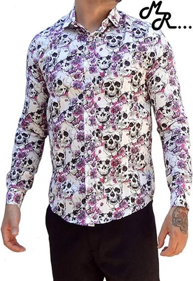 Camisas Social Slim Premium (caveiras)