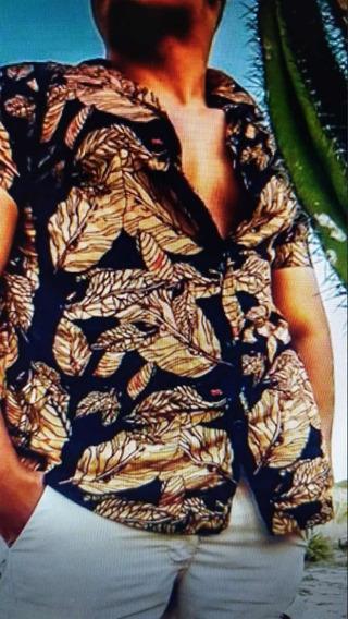Camisa Floral Hago Out Viscose Ticia Modas