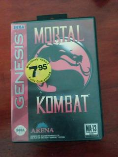 Oferta!! Mortal Kombat Sega Genesis En Caja Clasico