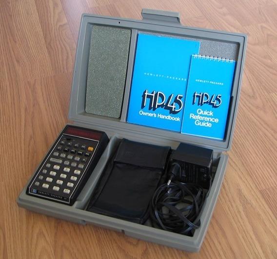 Calculadora Hp 45 Relíquia Completa Única Funcionando