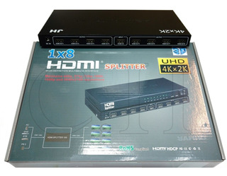 Splitter Hdmi 1 Entrada X 8 Salidas 3d 1.4 1080p Uhd 4kx2k