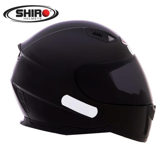 Capacete Shiro Sh 881 - Monocolor Preto Brilho