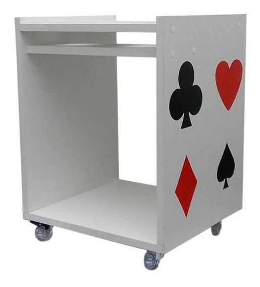 Poker Baralho Jogo Mesa Com Rodinhas E Freio Porta Cerveja