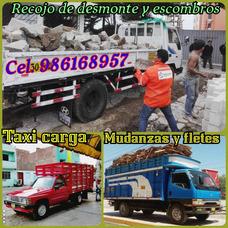 Eliminación Desmonte // Taxi Carga & Mudanzas Económico