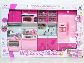 Kit Cozinha Infantil 4x1 Com Som E Luz À Pronta Entrega