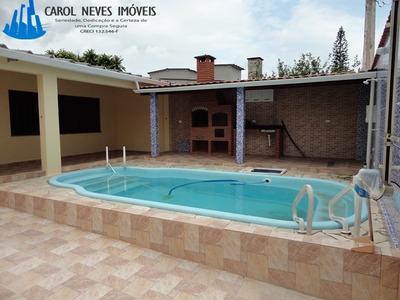 2945- Casa Linda Lote Inteiro Com Piscina Em Praia Grande!