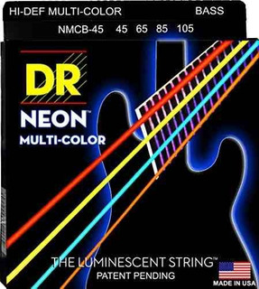 DR Bass Strings Neon Multicolor NMCB5-40 40-120 5-String Luminescent